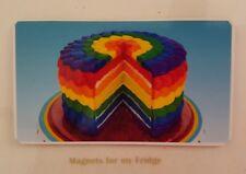 RAINBOW CAKE PHOTO FRIDGE MAGNET - M56