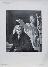 Maria Luigi Cherubini - Originaldruck aus 1898 Porträt alter Druck old print