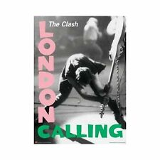"""The Clash London Calling Poster 24"""" x 36"""" With Pink & Green Lettering"""