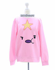 TY-G063 Pink Rosa Face Funny Emotion Star Sweatshirt Pullover Japan Harajuku