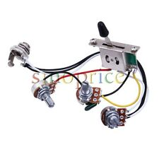 5-way Switch + 500k Pots + Knobs Wiring Harness for Strat Stratocaster Guitar