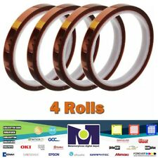 4 Rolls Heat Resistant Tapes Sublimation Press Transfer Thermal Tape 10mm30m