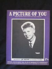 JOE BROWN -  60's Sheet Music - A PICTURE OF YOU