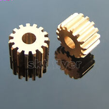 2pcs 153A Motor Mainshaft Metal Gears 15 Teeth 0.5 Modulus With 3mm Shafts