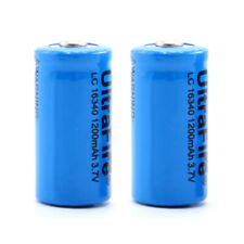 2pcs 16340 3.7V 1200mAh Rechargeable Li-ion Lithium Protected Battery For Camera