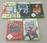 5 Spiele für Microsoft Xbox 360: 3x Rockband + 1x Guitar Hero + 1x Band Hero