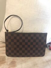 Louis Vuitton Damier Ebene Neverfull MM GM Pochette in Good Pre-owned Condition