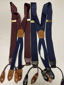 Cole Haan Bronze And Leather Suspenders Lot 2