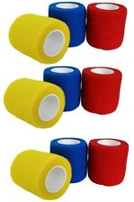 9 x Haftbandagen selbsthaftende Bandagen 5cm x 4m Verband Tape 3 Farben