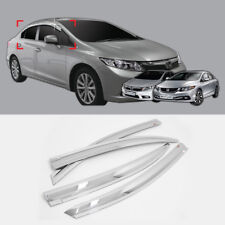 Chrome Door Visor For 2012-2017 Honda CIVIC