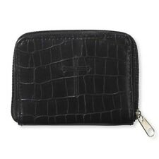 Black Embossed Rosary Case (VC854) Zippered NEW 4 1/2 Inches