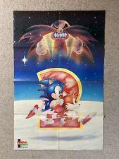 Sonic The Hedgehog II 2 Sega Pro Magazines Posters Mega Drive 1992 Genesis Games