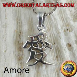Silber Anhänger 925‰ Liebe Hierogliphe China