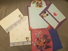 Disney Stationary Set Vintage Collection Lot Of 3