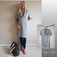 9ba9083b9c7e75 Neues AngebotPullikleid Gigi - Strickkleid Kleid - Long Pullover Knit Dress  - grau Gr.48 *