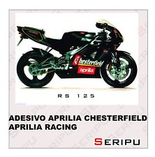 X2  APRILIA CHESTERFIELD RACING RS  STICKERS MOTO SCOOTER  VINILO TUNING ADESIVO