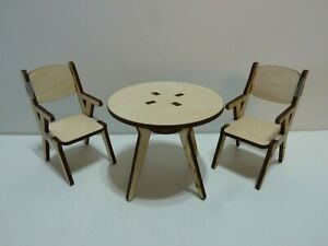 1:12 Scale Doll House Small Kitchen/Dining Room Set-Mid Century Modern