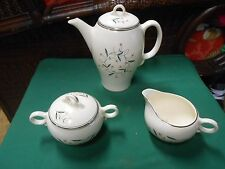 Beautiful Vintage Retired LADY EMPIRE China by PERMACAL. TEA POT-SUGAR & CREAMER