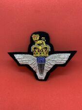 Parachute Regiment, Blazer Badge Bullion Badge British Military Army Badge