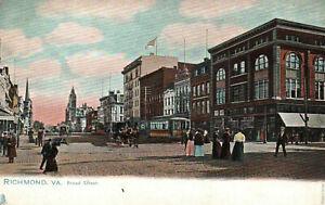 Richmond, Virginia, Broad Street - Postcard (K1)