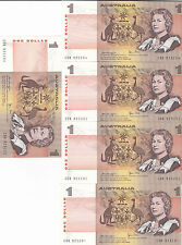 1979 One Dollar Knight/Stone UNC Five Consecutives CSK 925200/204
