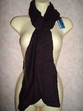 MOUNTAIN WAREHOUSE DOUBLE TWIST SNOOD PURPLE BLACK BNWT RRP £20