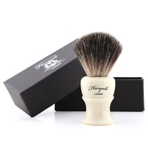 High Quality Men Shaving Brush Black Synthetic Hair for Barber Salon Wet Shave