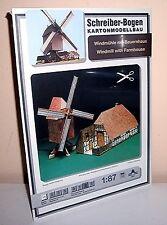 * KARTONMODELLBAU  Windmühle mit Bauernhaus SPUR H0  SCHREIBER-BOGEN 607