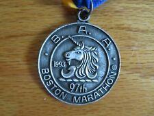 Rare 97th BOSTON MARATHON April 1993 FINISHER MEDAL Cosmas Ndeti Olga Markova