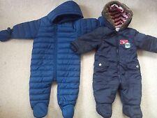 NEXT JASPER CONRAN BABY BOY BUNDLE SNOWSUITS 3/6 MTHS EXCELLENT CONDITION(0.7)
