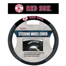 MLB POLY-SUEDE MESH STEERING WHEEL COVER BOSTON RED SOX