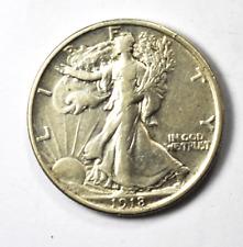 1918 50c Walking Liberty Half Dollar Fifty Cents Philadelphia XF-AU