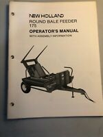 New Holland Round Bale Feeder 175 Operator's Manual *62-63