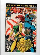 Marvel G.I. JOE #136 Starring Snake Eyes 1993 NM Vintage Comic