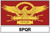 Sticker adesivi adesivo bandiera spqr impero romano roma