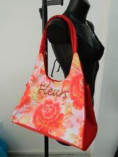 borsa rossa fleurs MEI NU con tracolla mare spiaggia OMA06