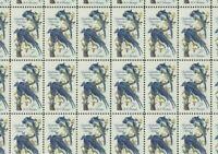 #1241 John James Audubon Columbia Jays birds Collie full mint sheet of 50 MNH OG