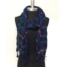 LONG Crinkle Scarf Wrap Shawl Stole Style Fashion Women Girl USA Seller! Dk Blue