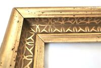 BIG Antique Fit 14X 21 Lemon Gold Gilt Picture Frame Stencil Wood Gesso Fine Art
