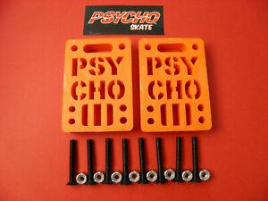 "PSYCHO RISER PADS  1/2"" ORANGE + 8 x 1.5"" Phillips Head Hardware"