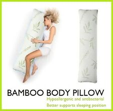 BAMBOO BODY PILLOW MEMORY FOAM SUPPORT LARGE FULL LONG NATURAL ANTIBACTERIAL NEW