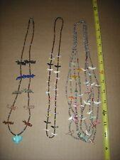 Vintage Southwestern New Mrxico Handmade Fetish Necklaces see photos