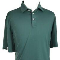 RLX Ralph Lauren GREEN wicking golf polo shirt Stretch MENS SIZE XL