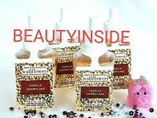(4) Bath and Body Works VANILLA SNOWFLAKE Wallflowers Home Fragrance Refill