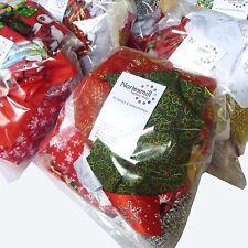 Mixed Christmas Fabric & Ribbon Remnants Bags