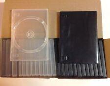 26 BOITIERS DVD VIERGE boitier Case NOIR / TRANSPARENT