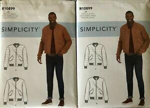 Simplicity 10899/ 9190 Men's Bomber Baseball Varsity Jacket UNCUT 34-42 or 44-52