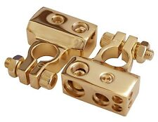 Gold plated battery terminals for audio or marine