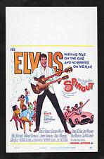 SPINOUT * CineMasterpieces ORIGINAL WC MOVIE POSTER ELVIS PRESLEY 1966