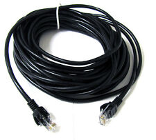 30 FT FOOT CAT5E CAT 5 ETHERNET NETWORK LAN BK CABLE